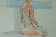 Kearn - Backscape three - 22¨x15¨ - Watercolour and charcoal on paper