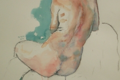 Kearn - Backscape two - 22¨x15¨ - Watercolour and charcoal on paper