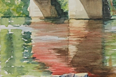 "09_Reflections of Wakefield Bridge _Ann Chaplin_Watercolour_17""x13""_2015"