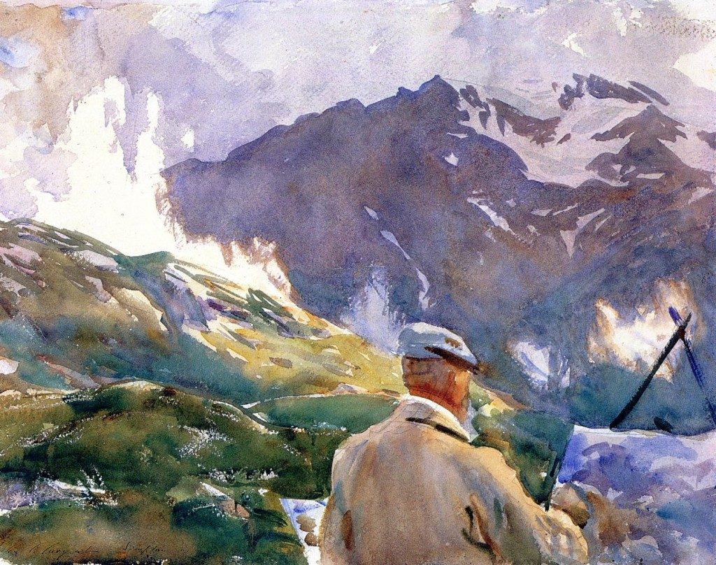 John Singer Sargent, Artist in the Simplon, watercolor, c. 1909.