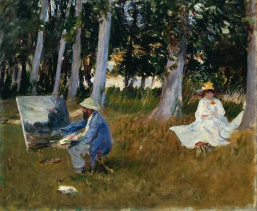 John Singer Sargent, Claude Monet Painting by the Edge of a Wood, Oil,1885