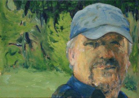 "The Woodsman, 20"" x 28"", Oil on canvas"
