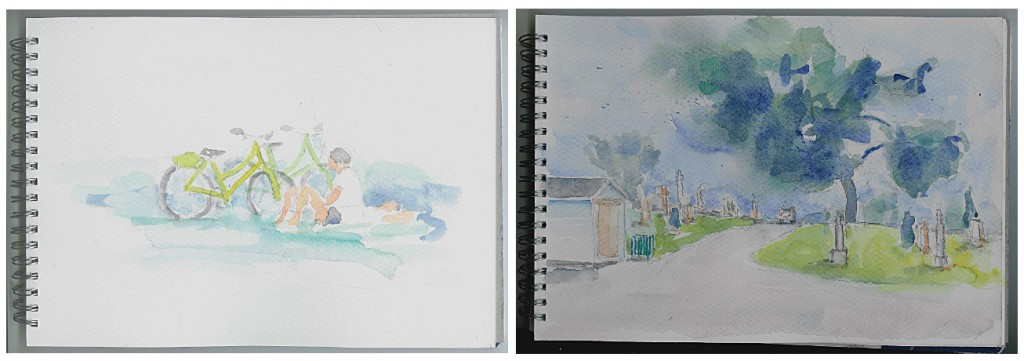 Two recent plein-air studies