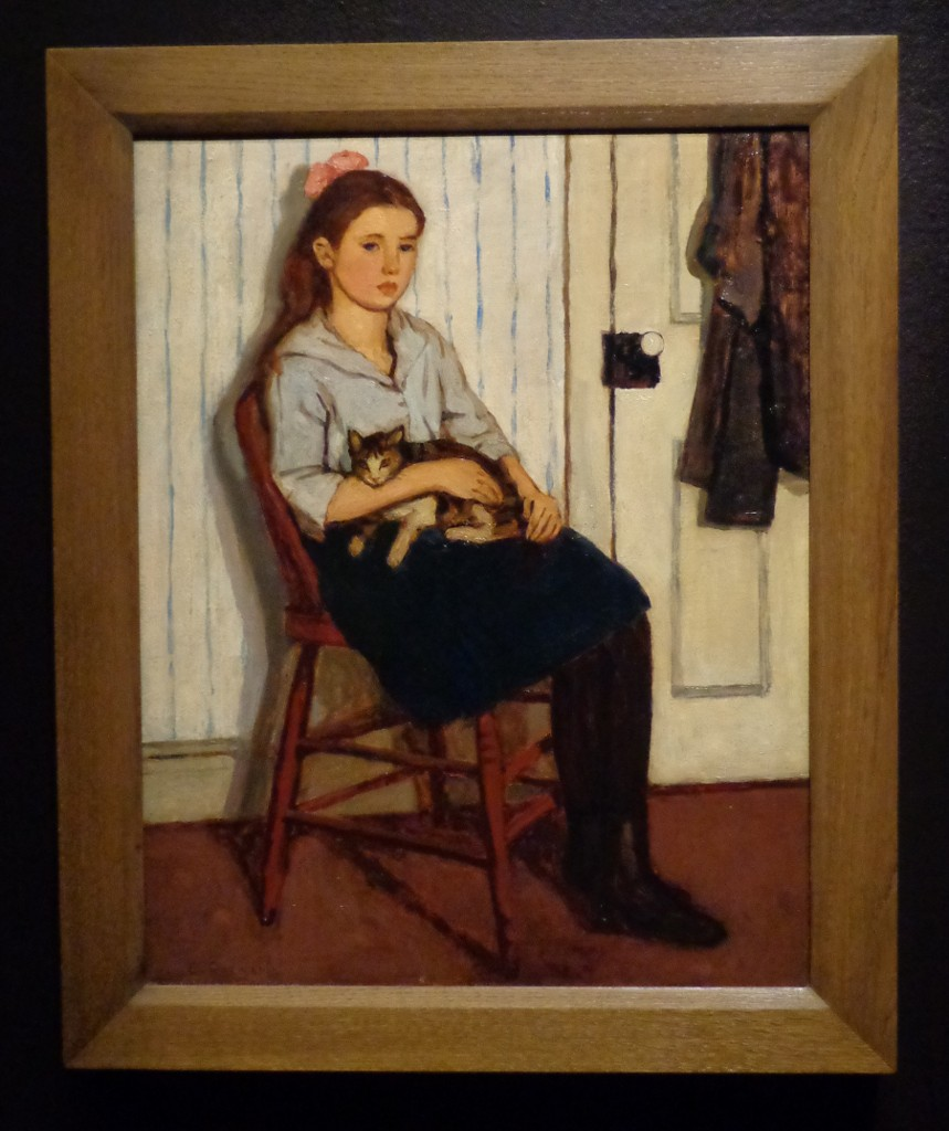 Emily Coonan, Girl and Cat, 1920