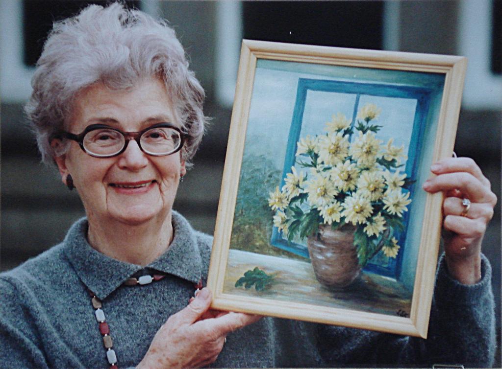 Mum and award-winning painting circa 1985
