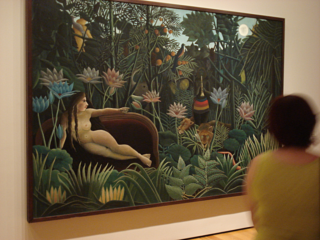 "At the MOMA again, Henri Rousseau's ""The Dream"" is imposing in a way all the wall posters could never be."