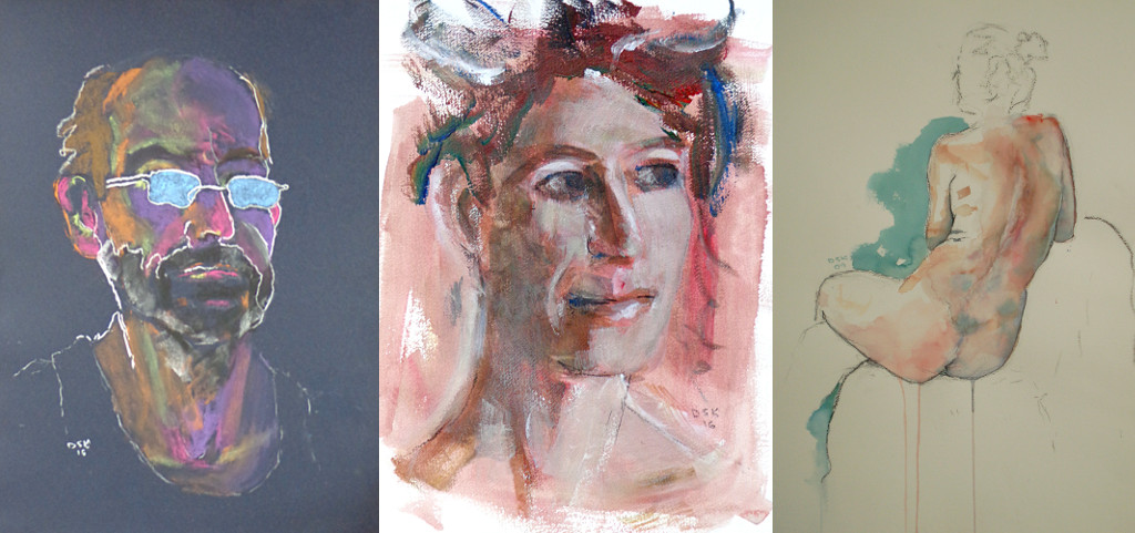 I'm showing works in pastel, acrylic and watercolour this summer.