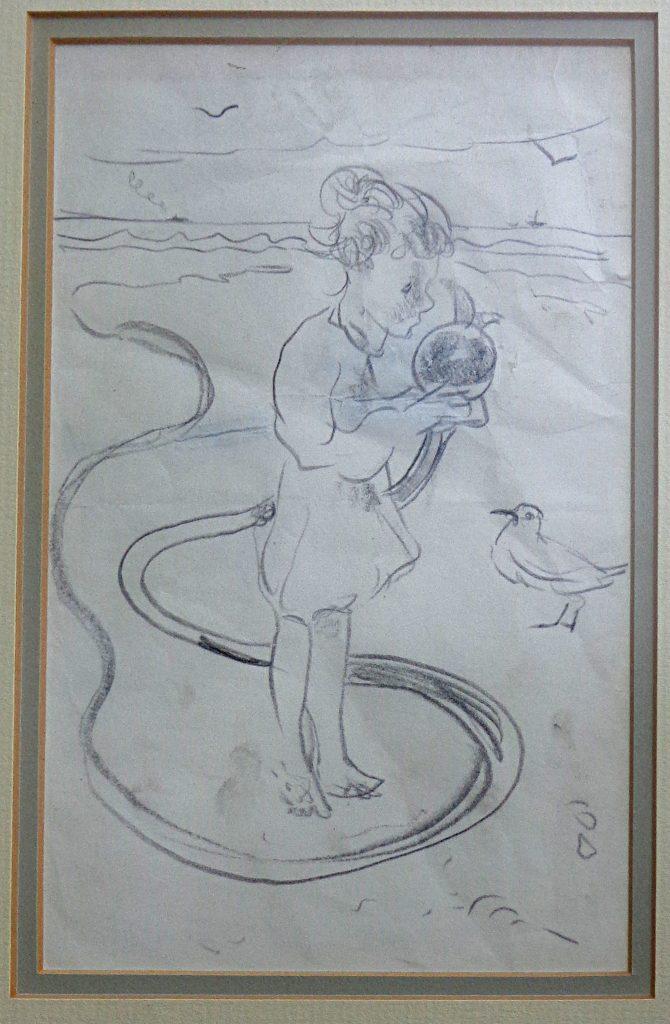 """Ann plus kelp - July 1963"" by Arthur Lismer"