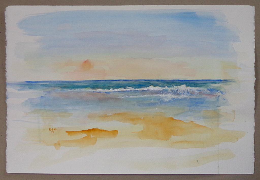 """Beach Refrain"", acrylic over watercolour"